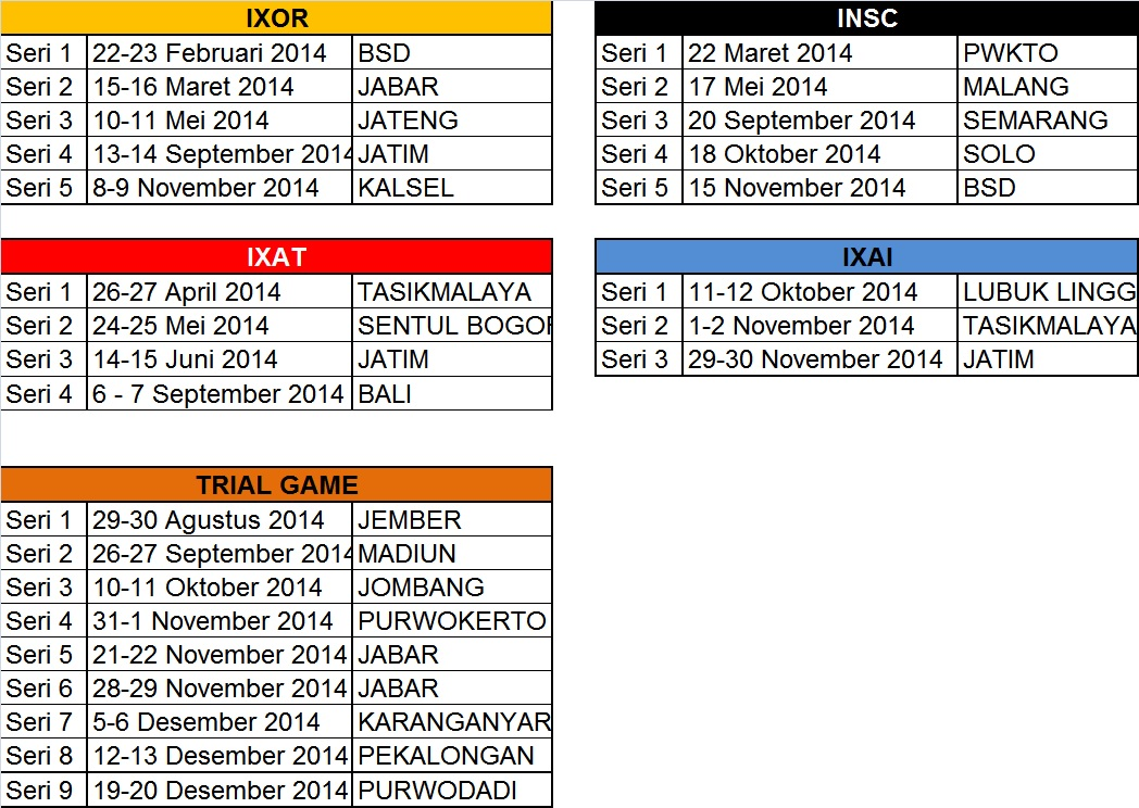 Kalendar Event 2014 Revisi 5