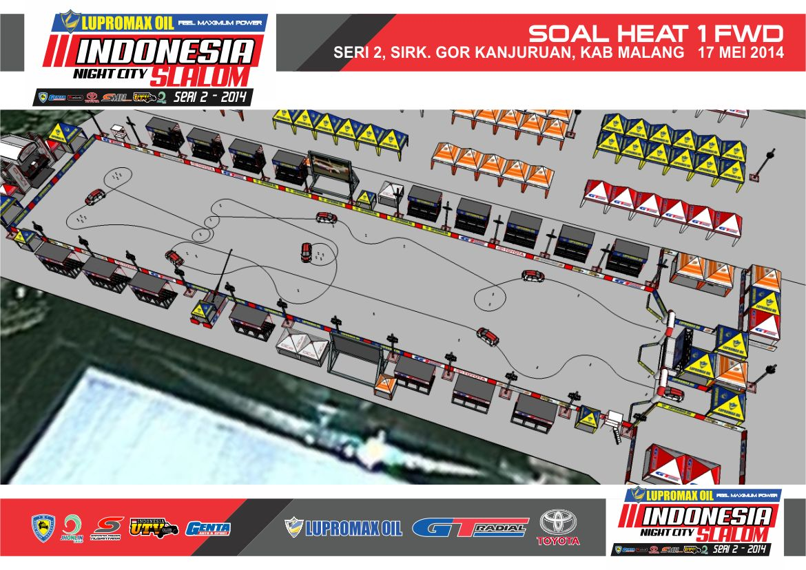 Lupromax Oil Indonesia Night City Slalom Seri 2 (Heat)