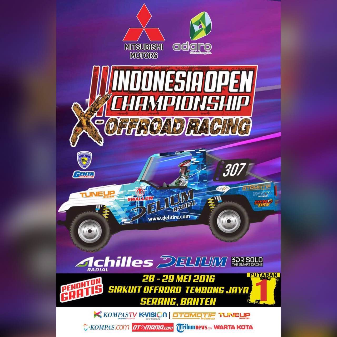 Indonesia Open Championship X-Offroad Racing 2016  : Tayang 5 Putaran